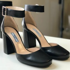 Prada Round-Toe Block Heels NEW!